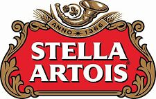 Stella Artois Beer Drink Bumper Sticker car truck window Decal 4 pack 2.5""