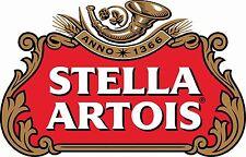 "Stella Artois Beer Drink Bumper Sticker car truck window Decal 4 pack 2.5"""