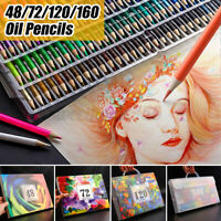 72/120/160 Colors Oil Art Pencils Drawing Set Sketching Artist Painting Pen Kits