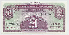 British Armed Forces Currency - 4th Series Special Voucher, 1 Pound, Gem Choice*