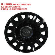 "758. 16""N COPRICERCHI COPPE RUOTA CERCHI FIAT 500L 12 > NERA  LOGO COPPONE CERCH"