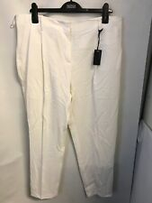 M&S  AUTOGRAPH SOFT WHITE TROUSERS SIZE 18 BRAND NEW WITH TAGS