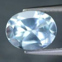 Certificate Include 1.88Cts Natural Blue Topaz Oval Untreated Loose Gemstone