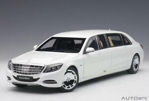 Mercedes Maybach S600 Pullman White 1:18 Scale AutoArt Model Car 76296