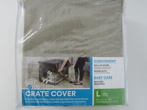 You & Me Dog Crate Cover TAN LARGE  37L x 23.5W x 23H BRAND NEW FREE SHIPPING