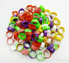 300PCS Poultry Leg Bands Bird Chicks Ducks Clip-on Rings 6 Colors