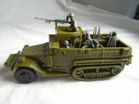 Classic Toy Soldiers WWII US Halftrack w/ 4 Man crew & Weapons - Battleground