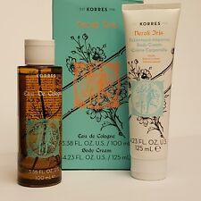 KORRES Neroli Iris 3.38 FL. OZ. Eau de Cologne & 4.23 FL. OZ. Body Cream Set.
