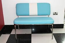 American Diner Furniture 50's Style Retro Bench Blue