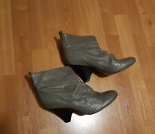 Aldo grey ruched ankle boots size 41/ 7.5