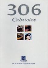 PEUGEOT 306 Cabriolet prospectus 6/98 1998 autoprospekt Brochure Brochure voiture