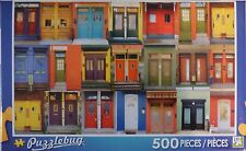 New Puzzlebug 500 Piece Jigsaw Puzzle ~ Colorful Montreal Doors