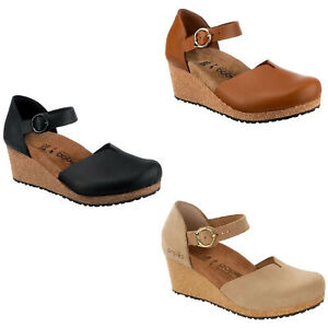 Birkenstock Papillio Mary Wedge Plateau Ankle Strap Platform Sandals Jane Ring