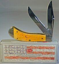 CASE XX BURNT ORANGE BONE SADDLEHORN POCKET KNIFE TB62110 ITM 22086