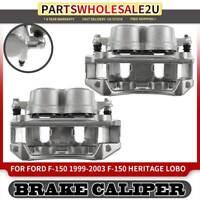 2x Front LH & RH Brake Calipers w/ Bracket for Ford F-150 Lobo Lincoln Blackwood
