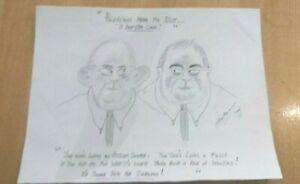 CHARLES BRONSON/SALVADOR PRISONER ART 2006 A4 B & W PAPER SIGNED DATED POLITICS