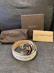 Men's Gucci Belt Size 36 Gold Buckle