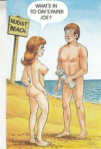 Funny  Postcard Risque  Sexy Girlie - Beach and Joe