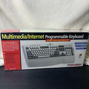 Vintage 1990s Multimedia Internet Programmable Computer Keyboard NOS