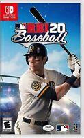 Brand New Sealed Nintendo Switch RBI 20 Baseball MLB 2020 18 19 Region Free