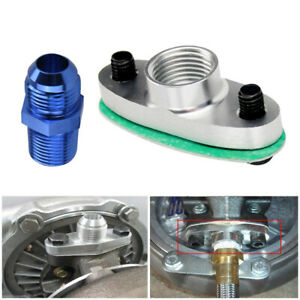 1 Set 1/2 Inch NPT Fitting Turbo Oil Drain Outlet Flange Adapter w/Gaskets Bolts