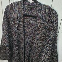 Lane Bryant Multi-Color Sweater Cocoon Open Front Cardigan Metallic Size 14/16