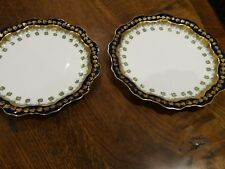 Pair of lovely dessert plates by Adderley 1880 _ 1900 A/F