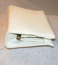 Vintage White Cloth Woman's Clutch Purse