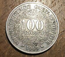 PIECE DE 100 FRANCS AFRIQUE DE L'OUEST 1969 (161)