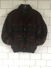 MENS VINTAGE RETRO AZTEC TRIBAL URBAN NAVAJO JACKET COAT SIZE MEDIUM #045