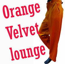 Orange velvet LOUNGE 36 pant tuxedo clown PIMP elvis xl dress golf jean velour