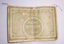 Heft Stickerei Vorlagen Walter Noebel Bautzen Kreuzstickerei Muster um 1910 (H6