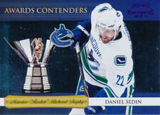 2010/11 Playoff Contenders #14 Daniel Sedin Awards Contenders Purple Parallel