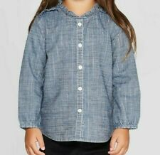 OshKosh Bgosh Toddler Girls Long Sleeve Chambray...