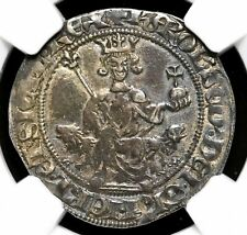 ITALY, Naples. Charles d'Anjou. 1285-1309. Silver Gigliato. NGC XF45