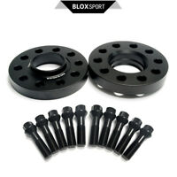 """Pair of 20mm 0.79"""" 5x110 CB65.1 Lip Wheel Spacers for Saab 9-3, 9-5 + 10pc Bolts"""