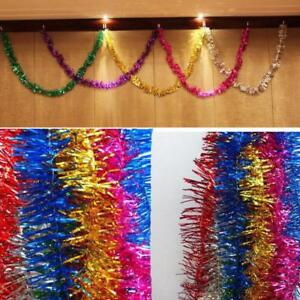Colorful Shining 2M Tinsel Garland Christmas Metallic Foil Hanging Decoration