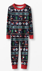 Hanna Andersson Christmas Gnome sweet Gnome Long John Pajamas Set XL NWT Men