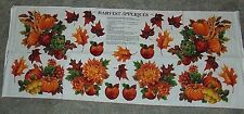 Harvest Fall  Fabric Panel Appliques
