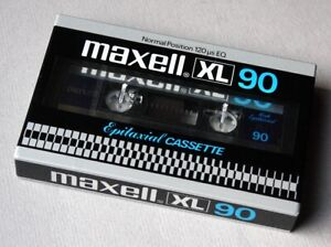 Maxell XL 90 Epitaxial cassette of 1981. Neu, OVP. Impossible to find.