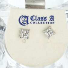 Iced Out Bling Clou d'oreille Box - SQUARE 5mm