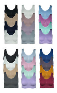 4er Pack Damen Komfort BH seamless Bustier Top Shirt BH