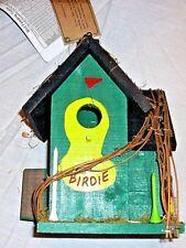 Nwt Artsy Cedar Wood Birdhouse Golf Theme Rustic Cottage Christmas Tree Shop