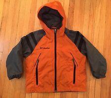 Boys 4/5 Columbia Jacket, lightweight orange, Water Resistant