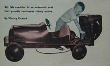 Sidewalk Car Midget Electric Roadster 1952 How-To build Plans