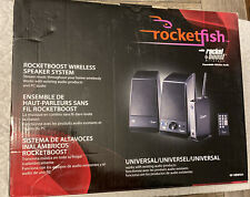 New listing Rocketfish RocketBoost Rf-Rbws01 Main / Stereo Speakers with Remote
