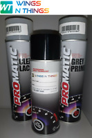 Aerosol Spray Paint 400ML + PRIMER + LACQUER KIT FOR AUDI LX7W ICE SILVER