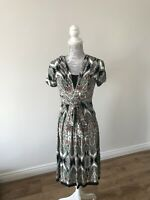 Wallis Paisley Print Dress With Tie Belt - Casual/Party - Size 8