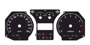 Custom speedometer instrument cluster gauge faceplate overlay Hyundai Tiburon