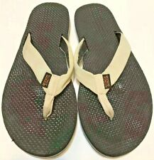 Teva Sandals Flip Flops Women's Size 10.5 Black and White Free Shipping